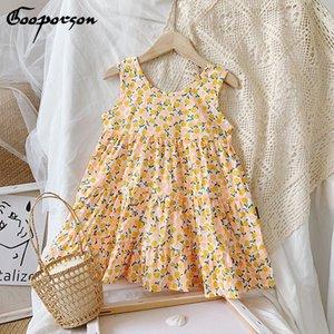 Gooporson Vestidos Summer Flower enfants Robes pour les filles Holiday Beach manches princesse robe tout-petits enfants Costume
