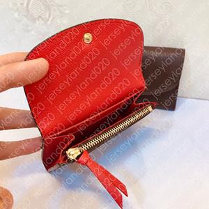 M41939 ROSALIE COIN PURSE Diseñador de moda para mujer, cartera corta, llave de lujo, estuche para tarjetas de crédito, icónico, lienzo con monograma marrón