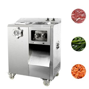 220V Large kitchen meat grinder machine slicer multi-function meat cutting machine automatic removable knife group meat cutter machine