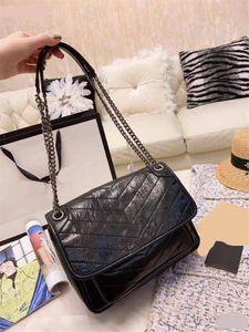 Y sint L niki marca diseñador de moda crossbody messenger hombro cadena bolsos cera de aceite monederos de cuero bolsa de polvo caja de regalo