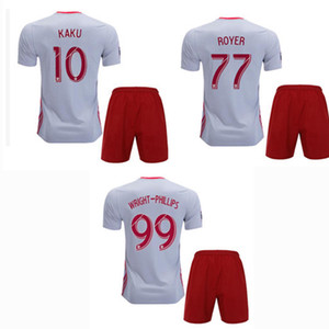 New York 2019 2020 Red Kids Soccer Jerseys sets Tracksuits 19 20 WRIGHT-PHILLIPS ROYER DAVIS KAKU MLS Bulls football shirt+shorts