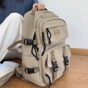 DCIMOR водонепроницаемый нейлон женщины рюкзак женский большой емкости пряжки рюкзак унисекс школьный ноутбук рюкзаки путешествия Mochila