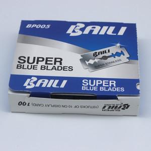 200 pièces / Lot Super Blue sécurité lames de rasoir Double Edge Beard rasoir Rasage Lames pour hommes Visage Soins personnels en gros de haute qualité
