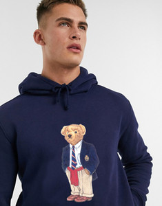 Men and Women's Street style polo bear fashion hoody winter cotton bear printing hip hop hoodie DYDHGMC219-WY
