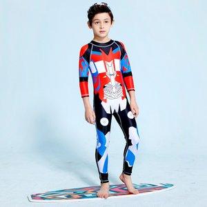 Swimsuit Children's Boy Kids For Bikini Baby Clothing Cuhk Child Long Sleeve Pants Bamboo Fiber Animal Pearl Diary