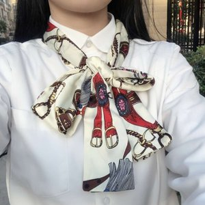 Scarf Female Star Celebrity Inspired Spring and Autumn All-match Decorative Long Scarf Korean Thin Long Scarf Long Tie Fashion