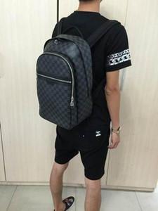 heißen Verkauf gute Qualität PU-Leder Rucksack damierr Graphit Leinwand Rucksack Tasche N58024 Mannes Tasche Schultasche Handtasche