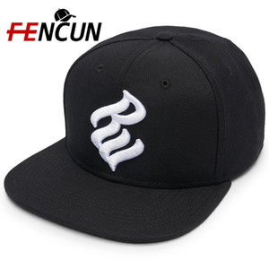 Crea il tuo Ricamato 6 pannelli Hat Snapback Acrilico e del tessuto di cotone davvero a buon mercato Snapback Hats unico Hip Hop piatto Brim Caps Unisex