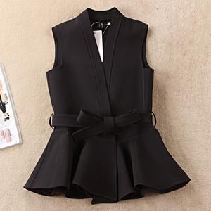 Nevettle Negro cinturón de las mujeres del chaleco de Primavera Casual Colete Femme V191025