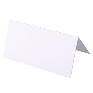 100 Blank Table Name Place Cards, Many Colours - White, Party, Wedding