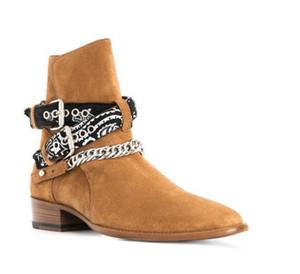 Hot Sale-Nova lista Handmade cinta fita fivela botas exclusivos Jodhpur Wyatt camurça couro personalizado botas denim genuínos