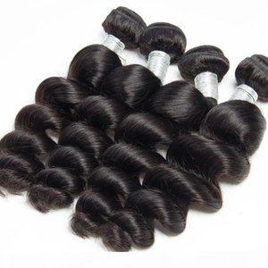 Peruvian Loose Wave 3 Bundles With Frontal Closure Virgin Human Hair Weave Extension Pre Plucked Frontal With Bundle