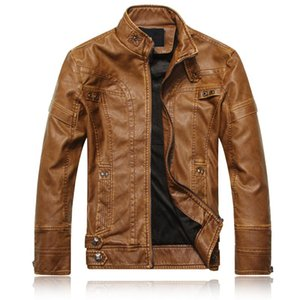 hot selling europe and america mens pu leather stand collar coat leather jacket fashion style jacket supplies