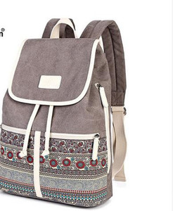 Top Quality Canvas Women Backpack Casual College Bookbag Female Retro Stylish Daily Travel Laptop Backpacks Bag