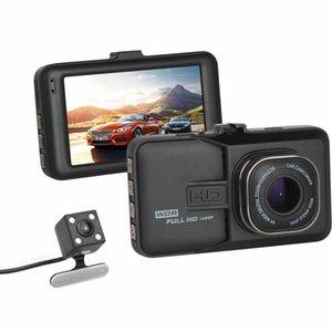 Alta calidad del coche DVR de la cámara del coche Dash Cam Dash cámara grabadora de vídeo de doble cámara T636 1080P Full HD 170 de ángulo en grados