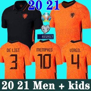 20 21 هولندا لكرة القدم جيرسي DE JONG WIJNALDUM فيرجيل هولندا قميص كرة القدم 2020 2021 DE تجلى جانب ممفيس STROOTMAN الرجال الأطفال عدة jersey1234