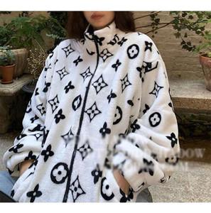 revestimento do outono e inverno edição feminina han lã solta coat coral fleece homens e mulheres com o frete grátis camada impressa