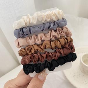 Scrunchie Hairbands del legame dei capelli delle donne per Holder Accessori Satin Hair Scrunchies Stretch Coda di cavallo a mano regalo Heandband favore del partito FFA3623