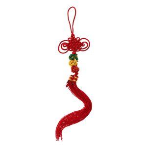 Nudo rojo hecho a mano tradicional china para las cucurbitáceas Flauta Hulusi decoración adorno