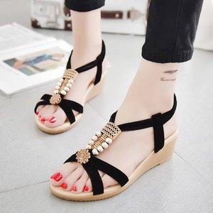 Shoes Woman Sandals Fashion Solid Color Suede Wedge Fish Mouth Cross Strap Sandals Roman Shoes Sandalias Femenina