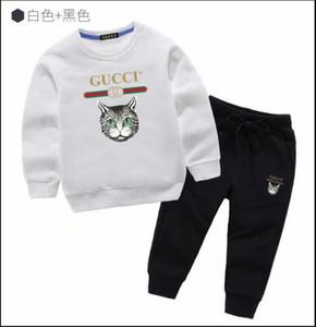 Uxury Logo Designer Детские футболки Брюки пальто Jacekt Hoodle свитер Olde Костюм Детская мода детская 2шт Хлопок Одежда наборы GA215