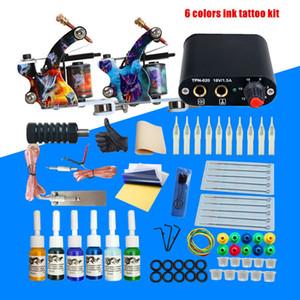 Tattoo Kit 6 14 40 Colors Inks Set Disposable Needles Power Supply Set 2 Machine Gun Set Tattoo Kit Tattoo Kits Accessories
