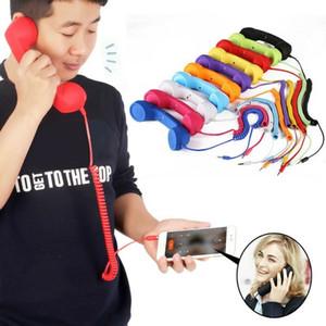 2019 Retro Téléphone combiné Rétro écouteur cellulaire Téléphone récepteur pour téléphone drôle Présent cadeau