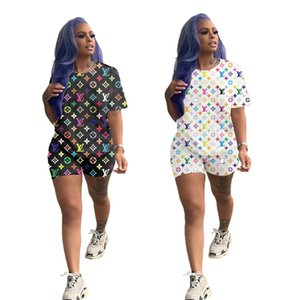 Women's summer explosion models fashion casual wild slim slimming letter printed short-sleeved T-shirt shorts two-piece suit