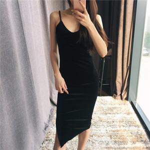 Женщины Sexy Velvet платье Тонкий V-образным вырезом платья Bodycon Марка Дизайнер одежды Brief Стиль Тощий Платье бинты платье партии