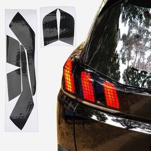 Venta caliente 1 Juego de nido de abeja trasera engomada de la película Modificado etiqueta engomada del coche para Peugeot 3008 4008 5008 Accesorios Exterior