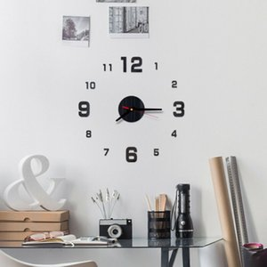 2020 modern design rushed Quartz clocks fashion watches mirror sticker diy home living room decor new arrival 3d wall clock Free Shipping