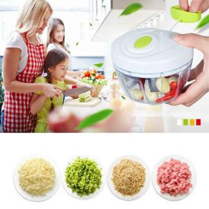 Procesador multifunción mano ajo Cortador de Alimentos Silcer Shredder Cebolla máquina de cortar cortador de carne Grinder herramienta de la cocina OOA7624-5