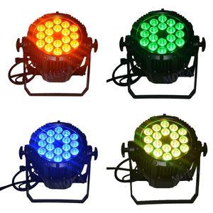 Düğün DJ Nightclub'a için Satış Su geçirmez Par Işık IP65 18X12w RGBWA + UV Renkli Parti Süper Parlak Par Can için 4pcs / lot LED Par Işık