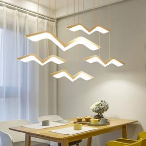 2020 1/2/3/4/5 Pcs Gaivota LED Pendant Light Modern Originalidade AC 90-260V luminária Simples Quarto Study Bar Hanglamp