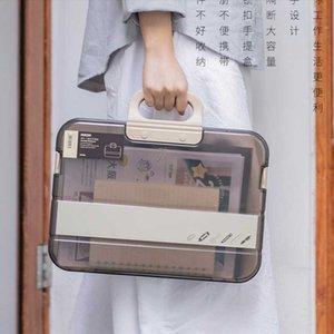 Kadınların Su geçirmez Evrak çantası El çantaları kadınlar 2020 Yeni Şeffaf bilgisayar çantası Unisex Tasarımcı ofis için Laptop çantaları