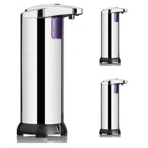 Aço inoxidável Soap Automatic Sensor Dispenser Sabonete Líquido Dispensers Lavar Roupa Free Portable movimento ativado 50pcs Dispenser CCA12184