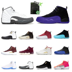 DARK CONCORD 2020 Men Basketball Shoes 12S Fiba Flu Game Royal Dark Grey Hot Punch Taxi Bulls for Mens Sports Sneakers trainers