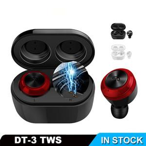 Bluetooth наушники 5.0 2020 наушники гарнитура Mini DT-3 TWS Sport зарядная коробка и встроенный микрофон водонепроницаемый для всех смартфонов