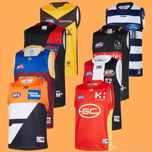 2019 Bombers AFL jersey Geelong Cats Gold Coast Essendon Adelaide Crows Collingwood águias costa oeste GUERNSEY Rugby Jerseys League singlet