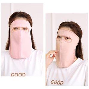 Elastici Sun viso maschere solido collo di colore Protezione Bocca della copertura della mascherina antipolvere Anti Saliva respiratore Mascherine abbondanza Stock 3 08ry E1