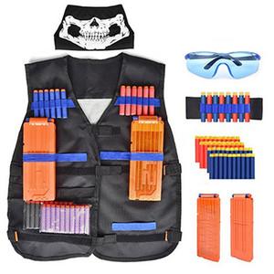 Niños de los niños del juego táctico al aire libre chaleco táctico Holder Kit de juego de deportes juguetes para Nerf N-Strike Elite Series Balas regalos de juguetes