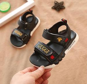 Nuovi bambini di estate Ragazzi e ragazze sandali scarpe da bambino pantofole bambino moda bambini sandali scarpe eur taglia 21-35 nero