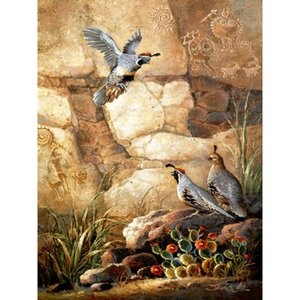 Animal art oil painting Three Quails modern canvas paintings Hand painted Wall home
