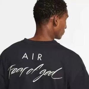 20SS НРГ воздуха страх Божий футболки противотуманные негабаритных тройник для мужчин, женщин коллаборации бренда дизайнерские футболки свободного покроя Джерси рубашка хип-хоп скейтборд