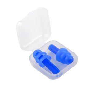 Tapones para los oídos de silicona suave Nadadores Tapones para los oídos suaves y flexibles para viajar Dormir Reducir el ruido Tapón para los oídos