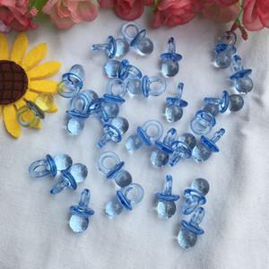50pcs / Pack Acrylique Nourrir Les Nuls Mini Sucettes Effacer Garçon Fille Baby Shower Favors Anniversaire Festival Décorations De Fête
