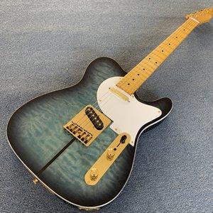 Hot Sale Marca New Blueburst Custom Shop Telecaster Merle Haggard Assinatura Tuff Dog Tele Guitarra Elétrica de Ouro Hardware 190507