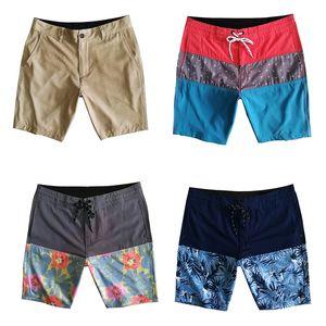 Hombre Bañadores Traje de baño de secado rápido elásticas Beach cortocircuitos rectos pantalones flojos Swim bermudas impermeable Surf Pantalones cortos de deportes masculino cortos