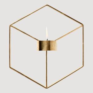 Holder stile semplice 3D geometrica Candeliere di metallo di candela della parete Sconce Nordic Corrispondenza Piccolo Tealight scandinavo casa Ornamenti