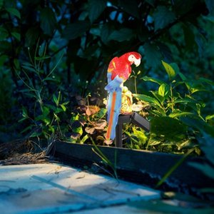 Solar Power LED Parrot Lawn Light Waterproof Garden Landscape Lamp Outdoor Decor